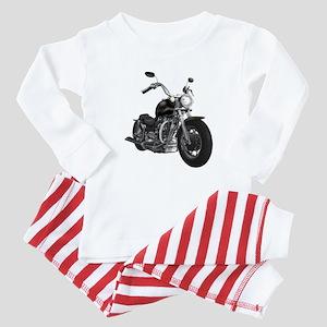 BLACK MOTORCYCLE Baby Pajamas