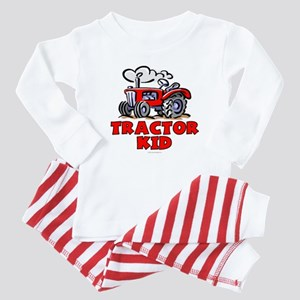 Red Tractor Kid Baby Pajamas