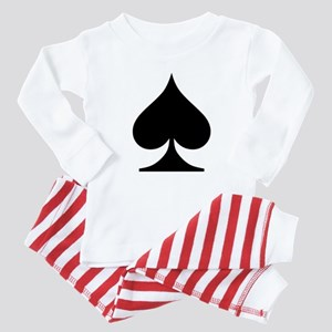 Spades Playing Card Symbol Baby Pajamas
