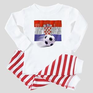 Soccer Flag Hrvatska Baby Pajamas