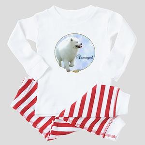 Samoyed Portrait Baby Pajamas