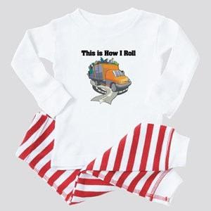 How I Roll (Garbage Truck) Baby Pajamas