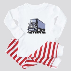 How I Roll (Tractor Trailer) Baby Pajamas