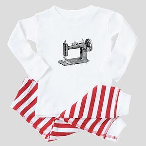 Vintage Sewing Machine Baby Pajamas