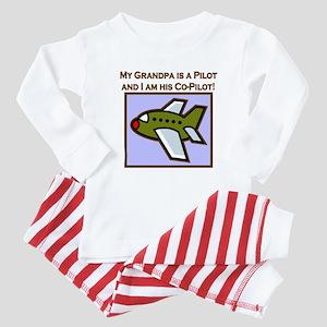 Grandpa's Co-Pilot Airplane Baby Pajamas