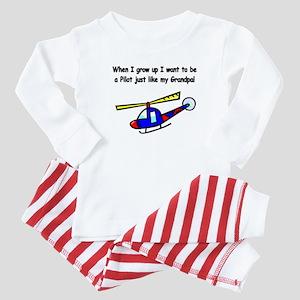 Helicopter Pilot Grandpa Baby Pajamas