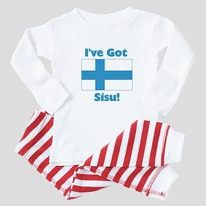 Finnish Sisu Baby Pajamas