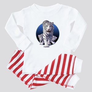 Baby White Tigers 1 Baby Pajamas