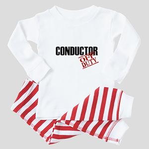 Off Duty Conductor Baby Pajamas