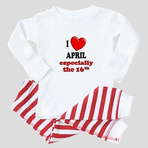 April 16th Baby Pajamas