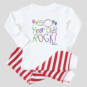 50 Year Olds Rock ! Baby Pajamas