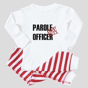 Off Duty Parole Officer Baby Pajamas