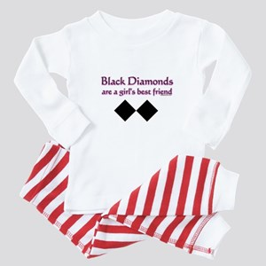 black diamonds copy Baby Pajamas