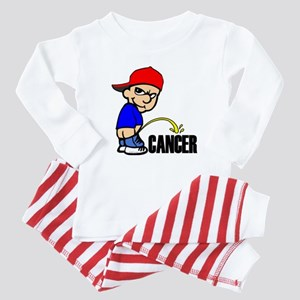 Piss On Cancer Baby Pajamas