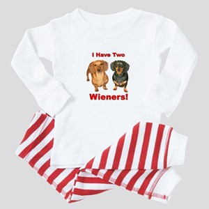 Two Wieners Baby Pajamas