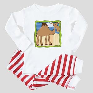 Wandering Camel with Green Border Baby Pajamas