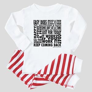 Recovery Slogans Baby Pajamas