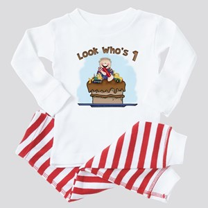 Chocolate Mud First Birthday Baby Pajamas