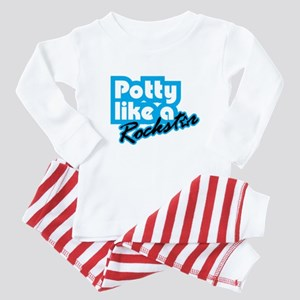Potty Like A Rockstar Baby Pajamas