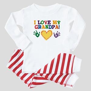 I Love My Grandpa Baby Pajamas