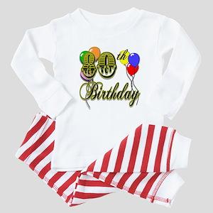 80th Birthday Baby Pajamas