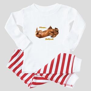 Bellyrub Doxie Baby Pajamas