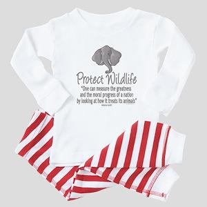 Protect Elephants Baby Pajamas