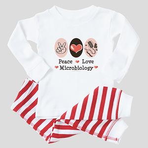 Peace Love Microbiology Baby Pajamas