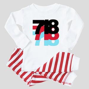718 Area Code Baby Pajamas