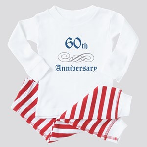 Elegant 60th Anniversary Baby Pajamas