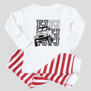 2-09 blk toyota fj Baby Pajamas