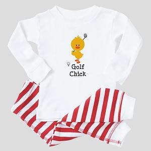 Golf Chick Baby Pajamas
