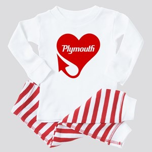 "Plymouth Heart - ""We'll Win You Over"" Baby Pajamas"
