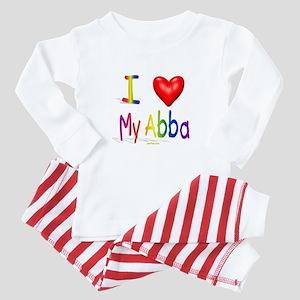 I Love Abba Baby Pajamas
