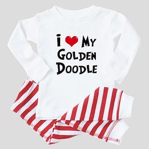 I Love My Golden Doodle Baby Pajamas