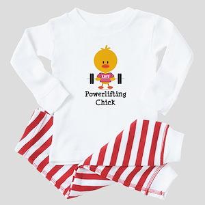 Powerlifting Chick Baby Pajamas