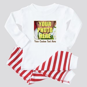 Custom Photo and Text Baby Pajamas