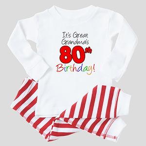Great Grandma's 80th Birthday Baby Pajamas