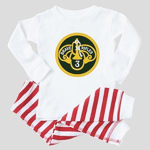 3rd Armored Cavalry Baby Pajamas