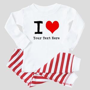 I Heart (personalized) Baby Pajamas