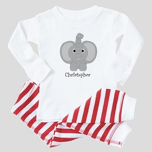 Personalized Elephant Design Baby Pajamas