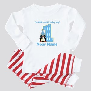 1st Birthday Penguin Baby Pajamas