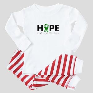 Green Ribbon Hope Baby Pajamas
