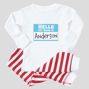 Personalized Name Tag Baby Pajamas