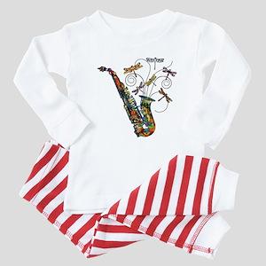 Wild Saxophone Baby Pajamas
