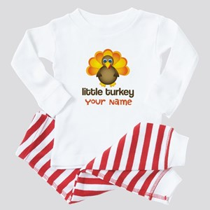 Personalized Little Turkey Baby Pajamas