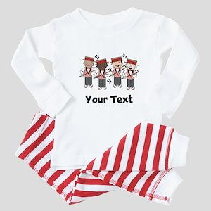 Personalized Barbershop Music Baby Pajamas