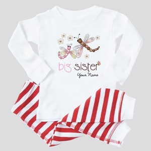 Big Sister Dragonfly Personalized Baby Pajamas