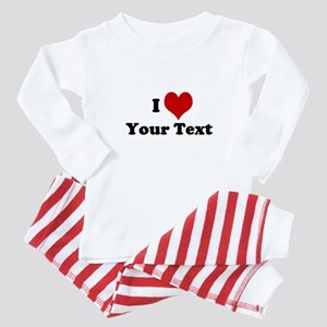Customized I Love Heart Baby Pajamas