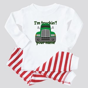 Personalized Im Truckin Baby Pajamas
